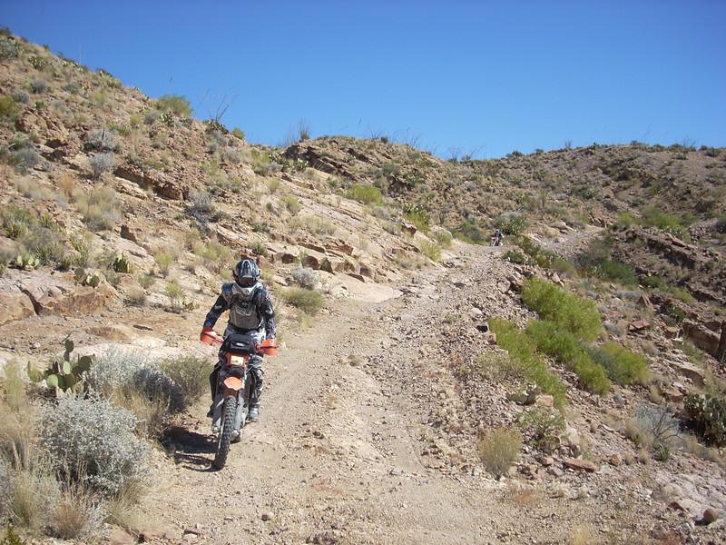 John wheels down Black Gap Hill