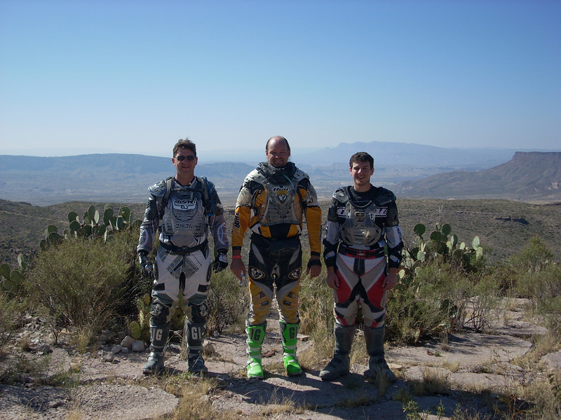 John, B-rad, Ryan above Lone Star Ranch