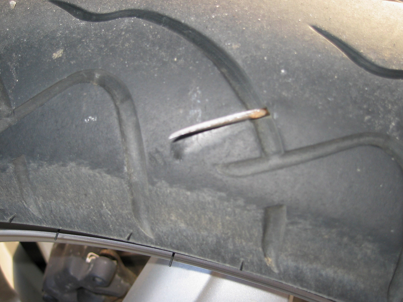F*ck part 2: nail in the tire. Won't forget this testdrive.