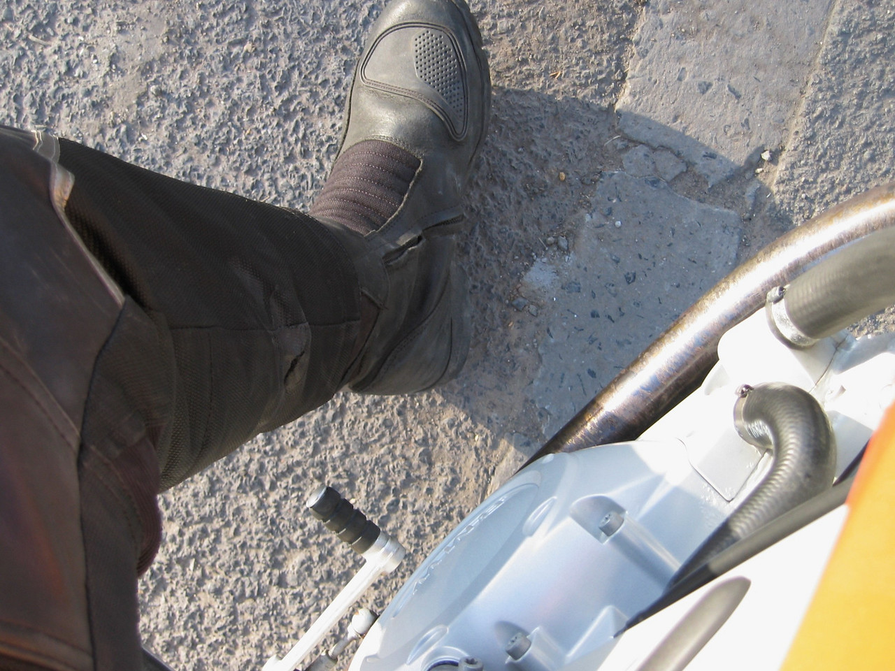 F*ck... I just burt a hole in my trousers on the exhaust.