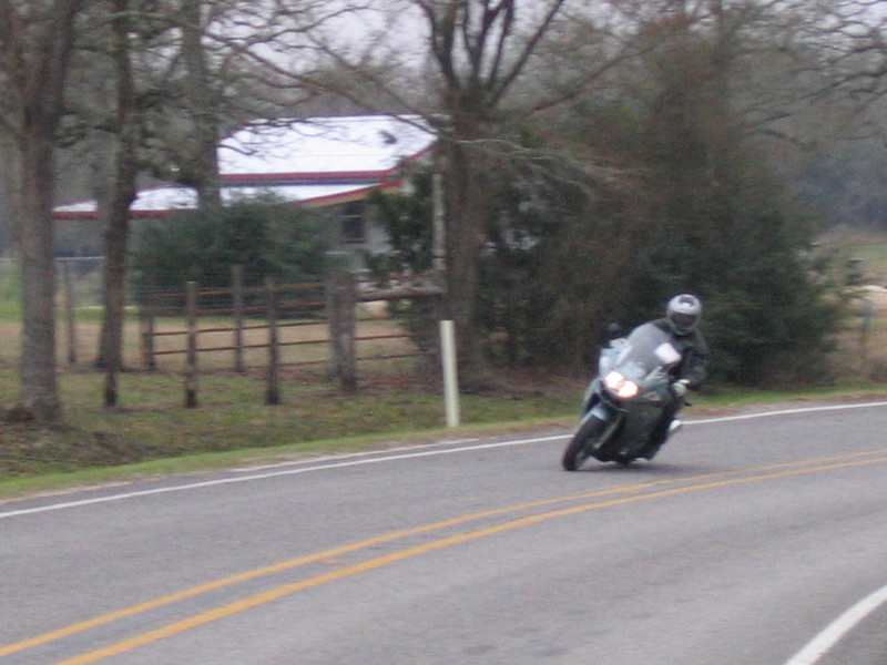 Ray on his K1200GT on FM3090, one of the best roads in the Houston area.
