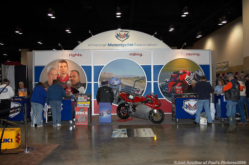 International Motorcycle Show 2006, The AMA Booth