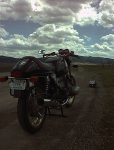 At the north end of the Bridger Mountains shortly after I finished rebuilding this bike