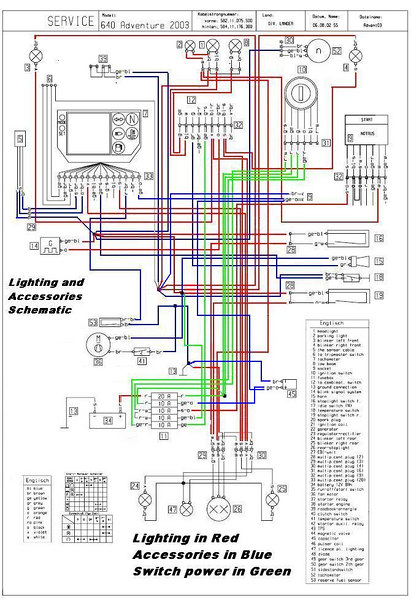 COMBINED LIGHTING AND ACCESSORIES CIRCUITS