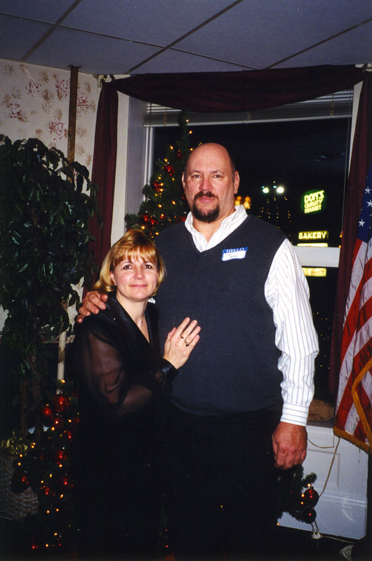 Barb & I at Semore Hotel's Badger Club Chistmas Party
