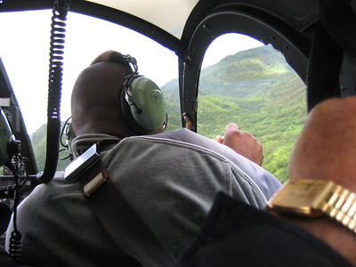 Hawaii chopper flight