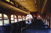 Inside the passenger car of the  Black Hills Central Railroad 1880 Train