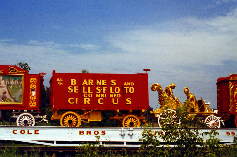 Circus Train on Route from it's home in Baraboo to the Great Circus Parade in Milwaukee