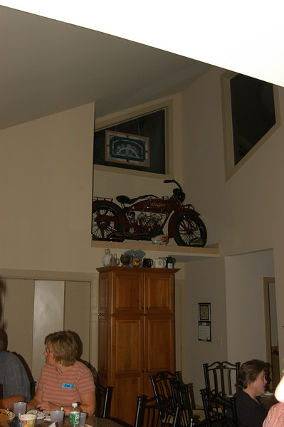 Every kitchen should have a motorcycle on display.