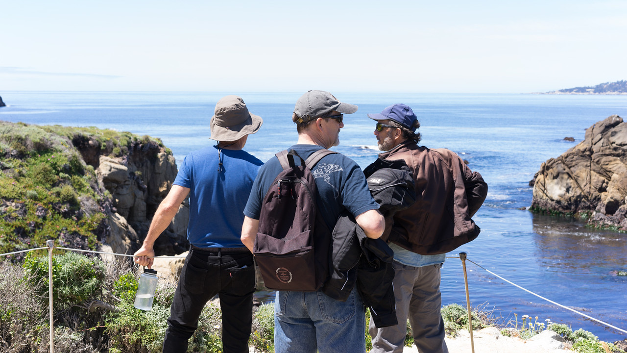 The guys enjoying the view.