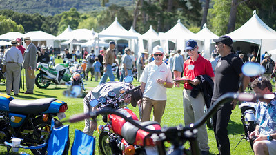 Saturday was the main attraction - The Quail Motorcycle Show in Carmel Valley.   The judges were hard at work when we arrived.