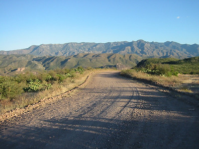 The low road to Bacadehuachi. It continues on to Nacori Chico, and then up to meet the road to Tres Rios - but a few miles east of Tres Rios. This is the easier route.