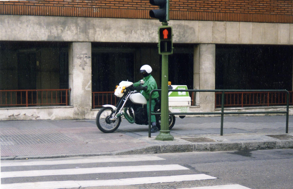 What I want to be, when I grow up. A motorcylce street cleaner.