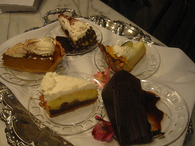 The desserts tray happened to be next to our table.  I couldn't resist taking this shot.  MMMMMM!