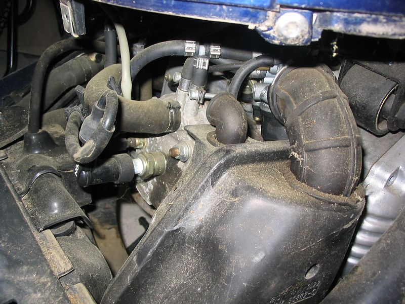 motor seems to be there. Runs well, but petrol pisses out of carb overflow pipe...