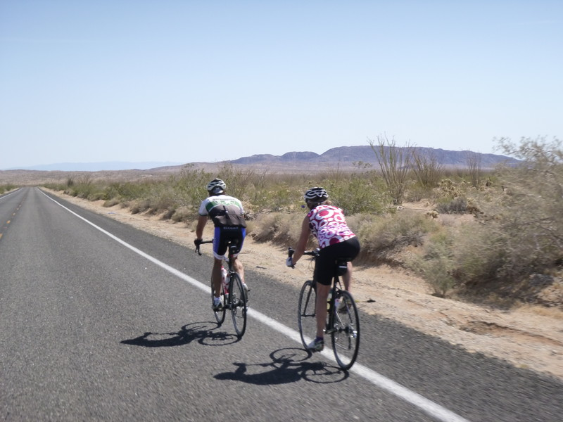 desert bicyclist...  nothing for MILES around.