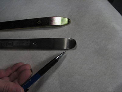 The specially designed spoon of the titanium tire iron makes tire mounting much easier than a standard steel tire iron
