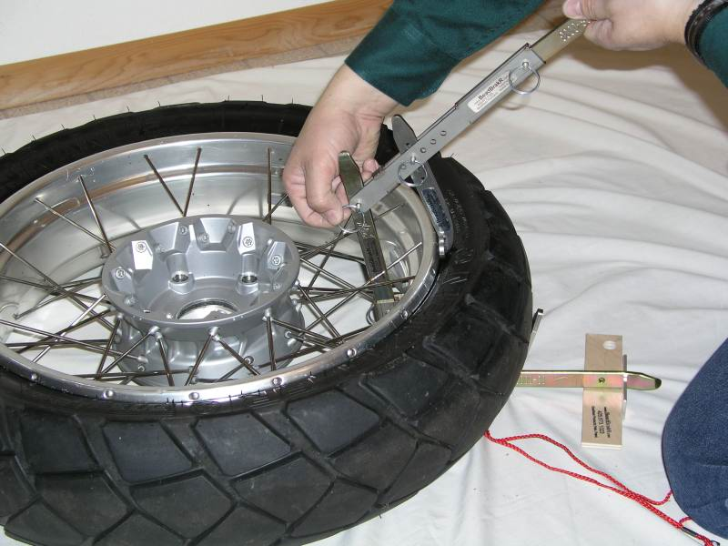18.  Reattach the Lever to the upright tire iron.