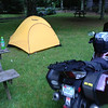 7/5 - Blue Ridge Motorcycle Campground. Good food, good folks. It rained most of the night...