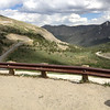 6/27 - Cottonwood Pass, summit. Looking down the paved east side...looked like fun!