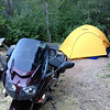 """6/26 - My campsite for the night, just south of Glenwood Springs, CO along CO82. If I remember right, this place was called """"The Hideaway"""" and was pretty cheap."""