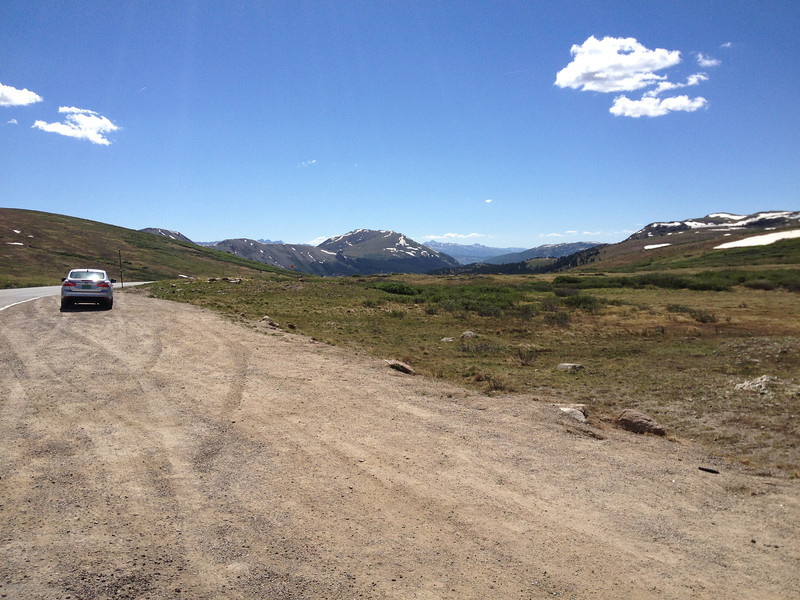 6/26 - Looking west from the Independence Pass summit.
