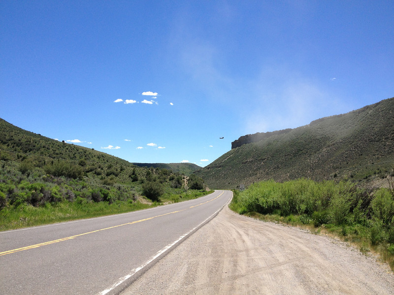 6/25 - CO131, south towards Wolcott. The Chinook's heading out...