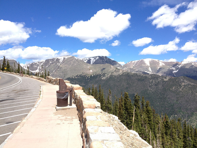 6/25 - Rocky Mountain National Park. On the east side, looking back to the west.