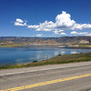 6/27 - From CO92, I hit US50 going east towards Gunnison. This is the Blue Mesa Reservoir. I'd be coming back on this road later in the trip when I headed for the Million Dollar Highway.