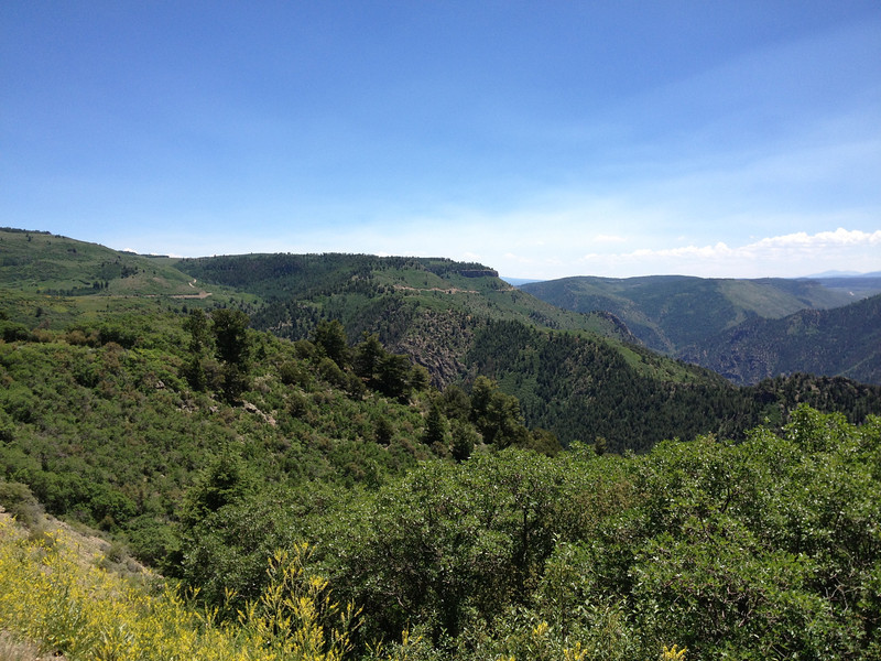 6/27 - You can see CO92 winding east/south along the canyon in the distance.