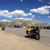 6/26 - Summit of Independence Pass. The 3 Harleys to the left were ridden by some non-English speaking European guys...they all gave me their cameras so I could take pictures of them standing by the summit sign. Nice fellas.