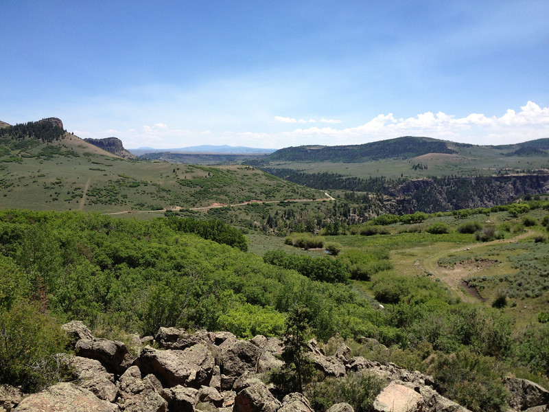 6/27 - CO92. Yep....that's the road ahead (not the grassy path in the foreground, lol) and it was lovely!