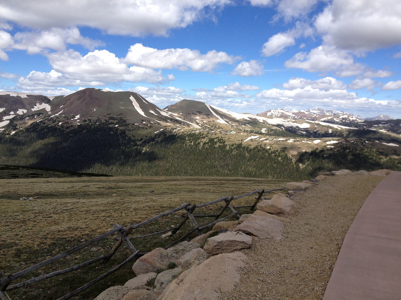 6/25 - Rocky Mountain National Park. Starting the trip down towards Estes Park.