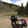 6/27 - Cottonwood Pass, west side. Rain was starting to spit, but nothing major. The dirt road was pretty good, although the many hairpins were slightly hairy with a heavy streetbike, lol.