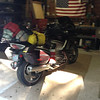 7/6 - HOME! At just after 5pm, I made it home after traveling 5650 miles. What a trip! Can't wait to do it again sometime. The bike performed flawlessly and handled everything with aplomb. I'll put together a report in the FJR forums soon.<br /> <br /> My bike is loaded down with a sopping wet tent, lol. It rained hard at BRMC the night before.
