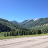 6/27 - Heading south on CO133, approaching McClure Pass, which you can see slicing up the mountain.