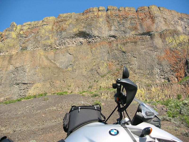 Spectacular cliffs on 155 between Electric City and Coulee City. This part of WA was covered in huge lava flows that were later cut by Glacier meltwater.