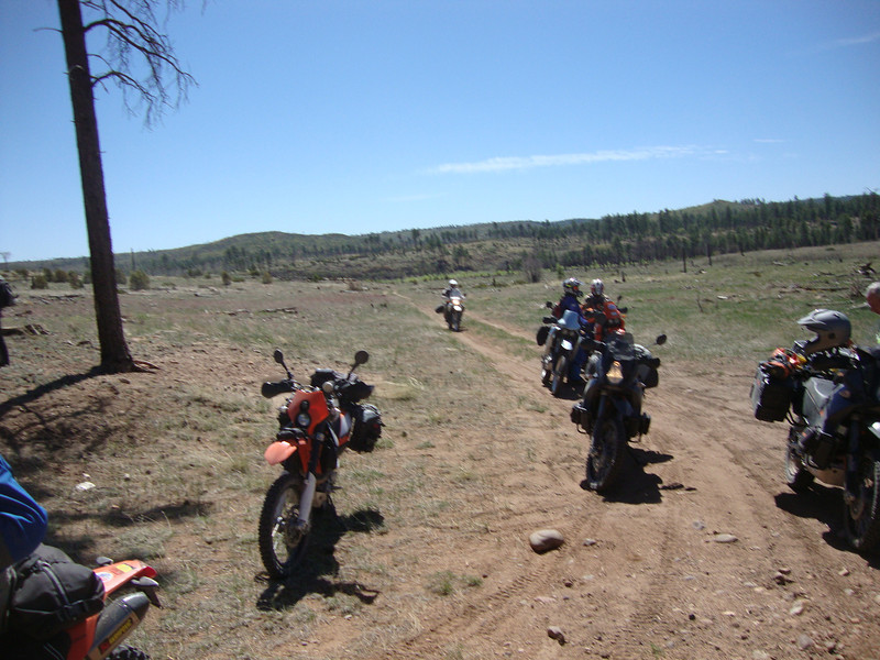 End of great primitive road west of Pinedale
