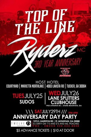 Top Of The Line Ryderz 3rd Anniversary Party