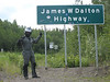 An hour or two north of Fairbanks I finally reached it:  The Dalton Highway!