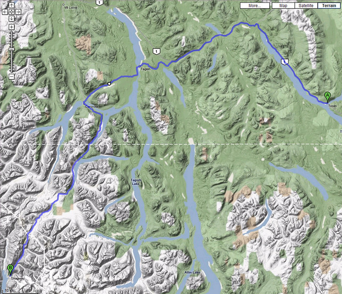 Day 7 - Teslin, YT to Skagway, AK - 158 miles