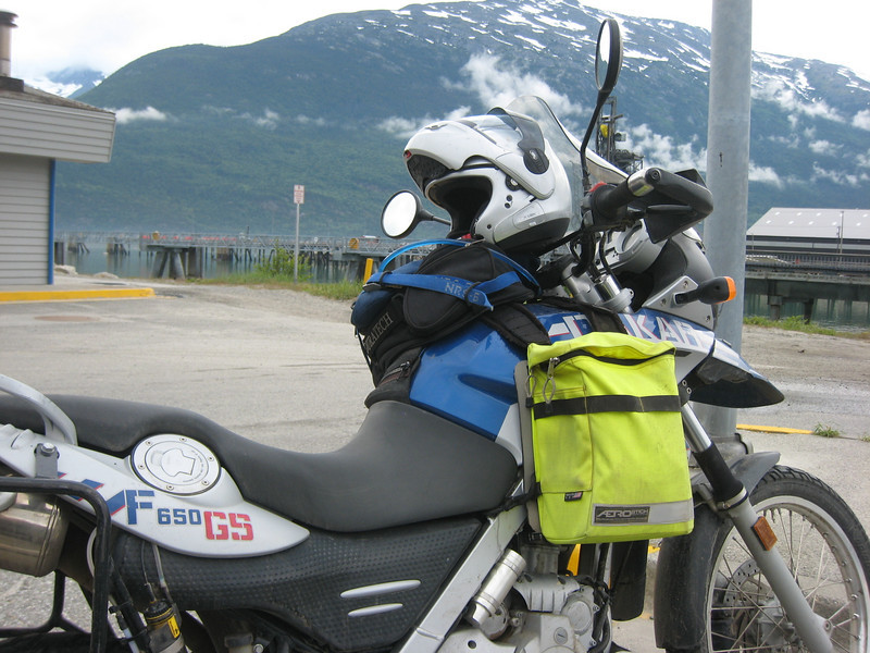 """I observed that his camping gear was off the bike so I """"stalked"""" him back to camp.  All of the regular campsites in town were already full."""