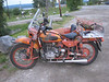 Stopped in Teslin, Yukon for the night and saw the first of many Ural hacks on this trip.
