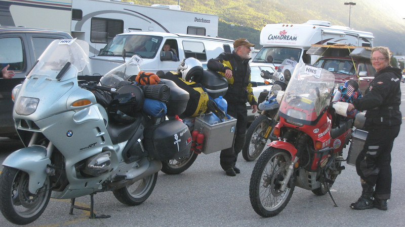 Up at 5:00 the next morning and ready to load onto the ferry.  Bikes first - of course.