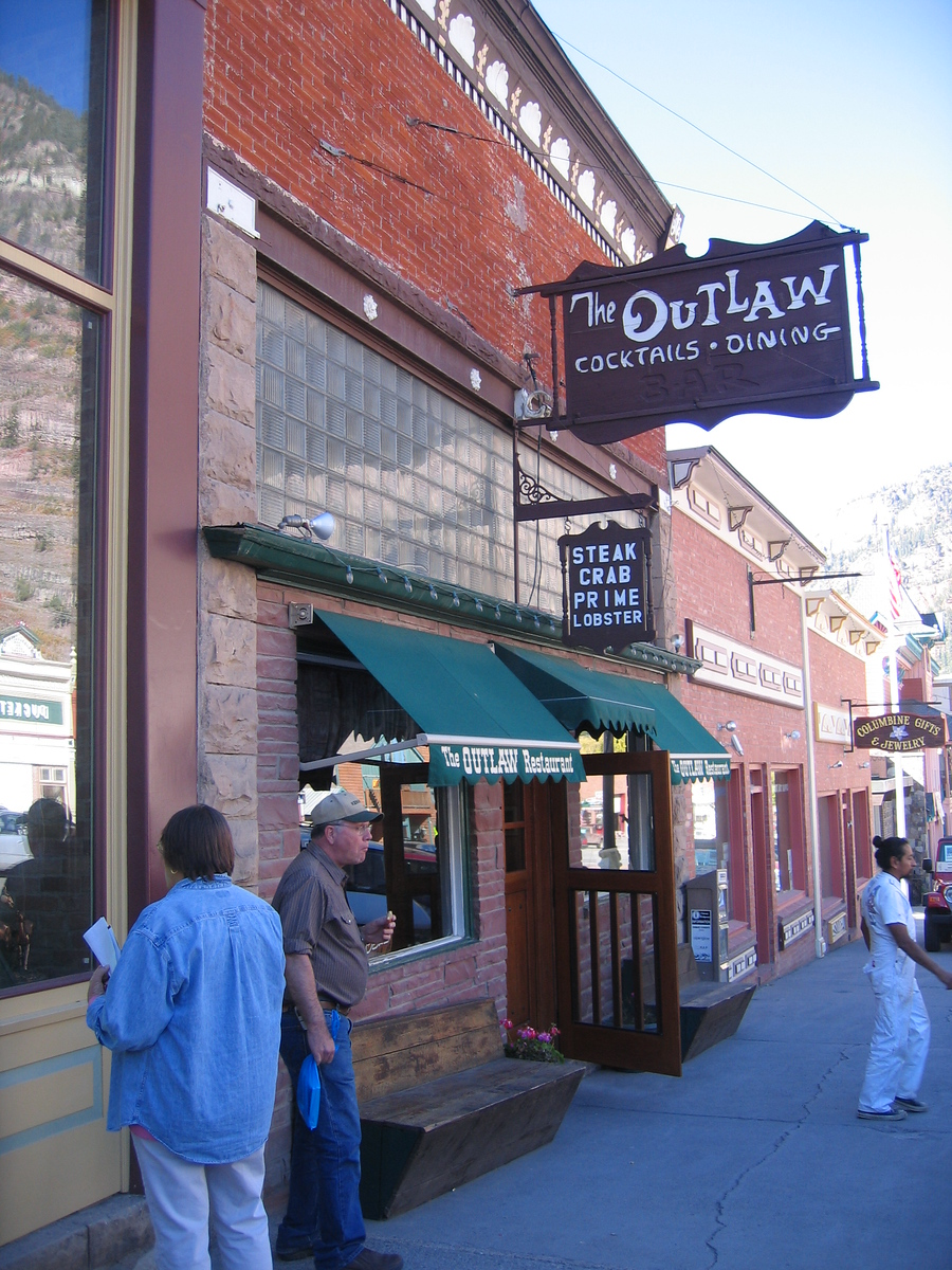 "Partly becuase ""The Outlaw"" was just down the block.  Steaks you say?  They has steaks and goodies deluxe!  We ate there both nights.... burp.<br /> <br /> Charming place, with a GREAT rag-time, boogie, honky-tonk piano player in the bar."