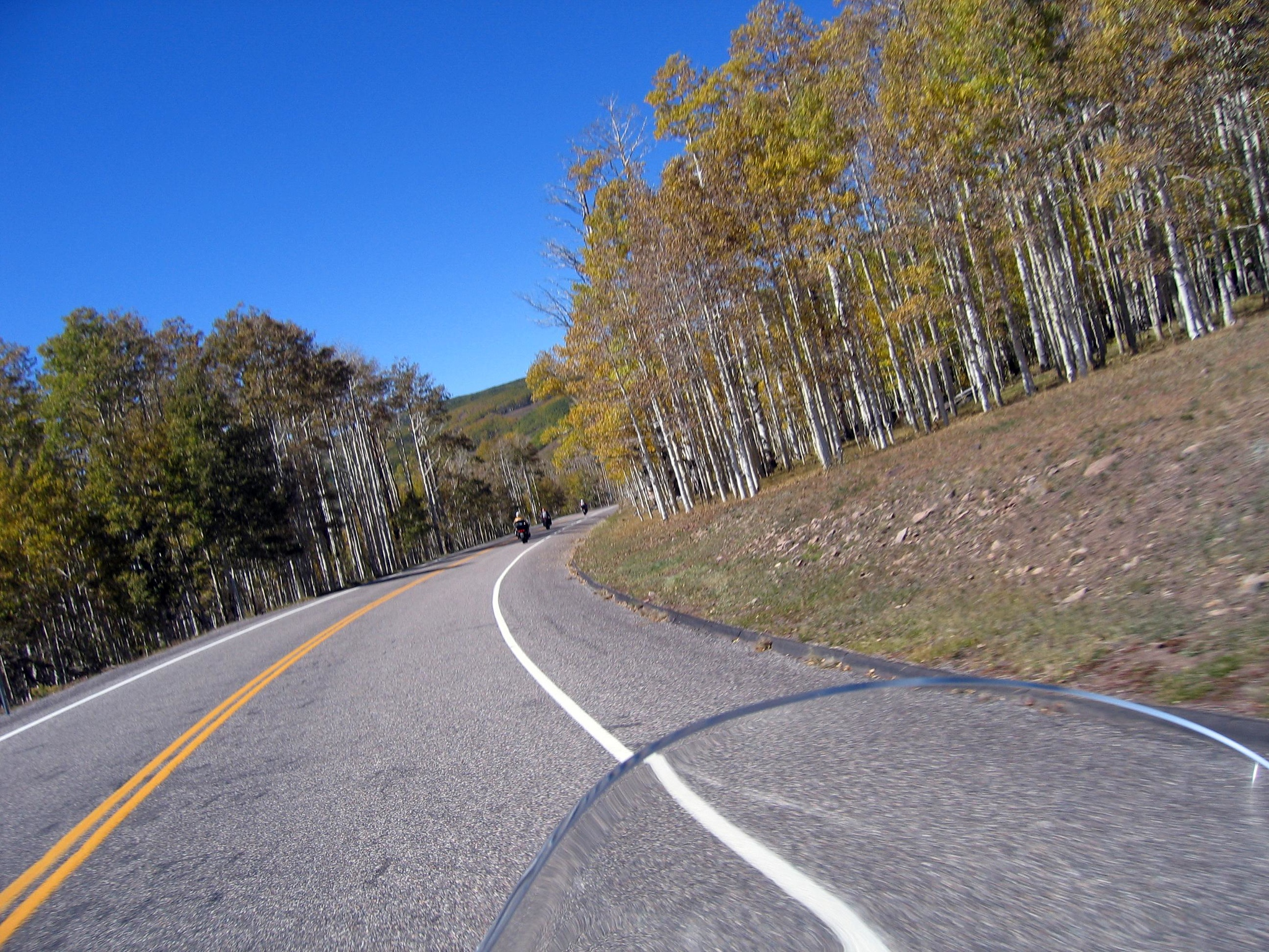 Later Sunday a group of us headed back over the pass to Boulder so that we could ride the Burr Trail.