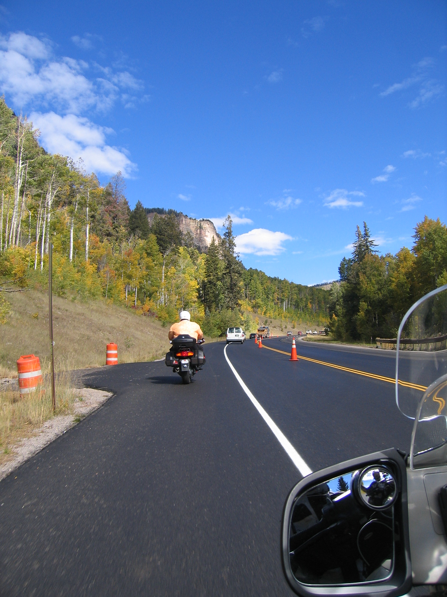 With the exception of some slow going for road work, the weather and road conditions were perfect.