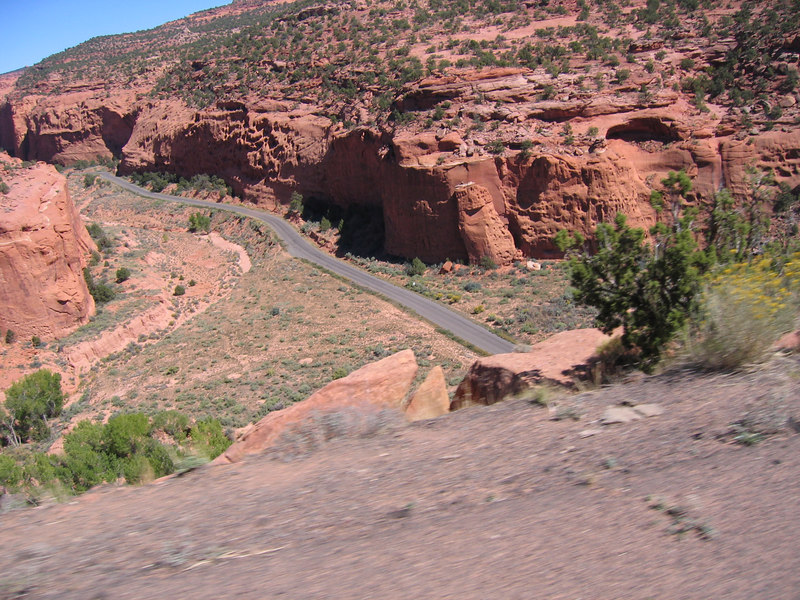 I'm glad I didn't miss this one.  What an amazing place.  The one lane road slowly descends into a narrow red-rock canyon.