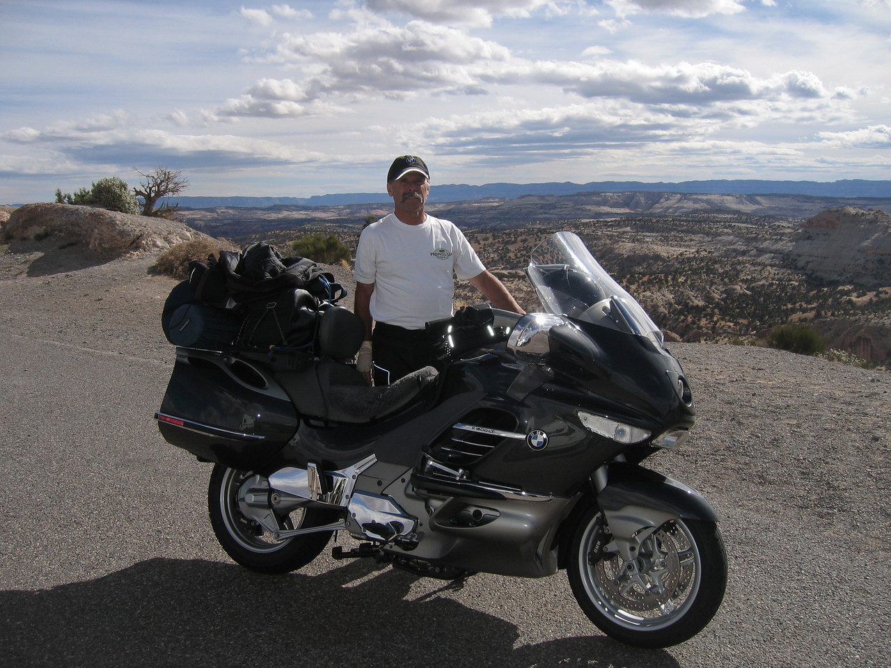 Here's Doug and his one-of-a-kind K1200LT.  He knows how to make it go!
