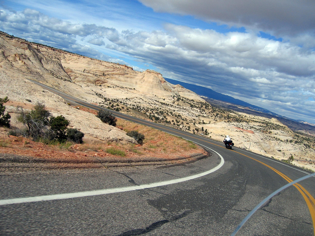 Beautiful weather, nice roads, no traffic.  Touring on a motorcycle doesn't get much better than this.